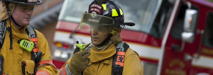 Wireless communications solutions for fire and emergency